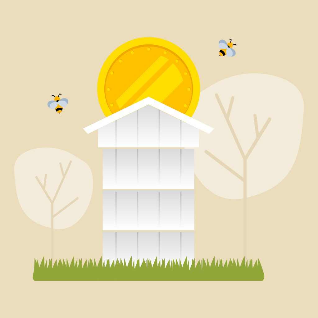 Business fo beekeeping icon