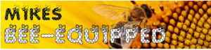 Bee-equipped logo